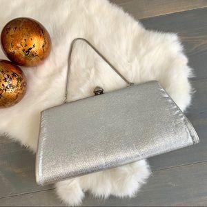 Vintage Silver Convertible Clutch Handbag